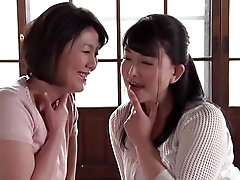 Handsome Japanese mature babes have threesome with young boy toy